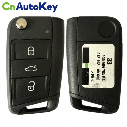 CN001068 for Volkswagen Golf Touran POLO ETC3 button flip key FOB REMOTE 5G0 959 752 BA