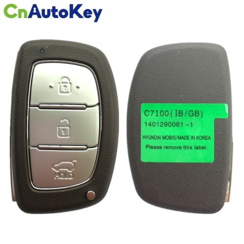CN020132 For Hyundai I20 2018 Genuine Smart Remote Key 3 Buttons 433MHz PCF7945A Transponder 95440-C7100