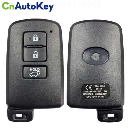 CN007164 Toyota Highlander 3 button Smart key keyless OEM 434mhz - BH1EW TOKAI RIKA