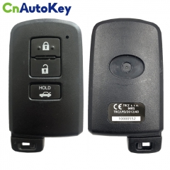 CN007160 For Smart Key for Toyota Auris Rav 4 3Buttons 434MHz   First Page88  Model BA9EQ  Part No 89904-33501  Keyless Go