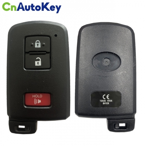 CN007161 Genuine Toyota Land Cruiser Smart Key, 3Buttons, BH1EK P1 A8 DST-AES Chip, 433MHz 89904-60E10 Keyless Go