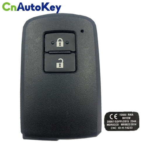 CN007163 Genuine Toyota Land Cruiser Smart Key, 2Buttons, BH1EW P1 A8 DST-AES Chip, 433MHz 89904-60J90 Keyless Go
