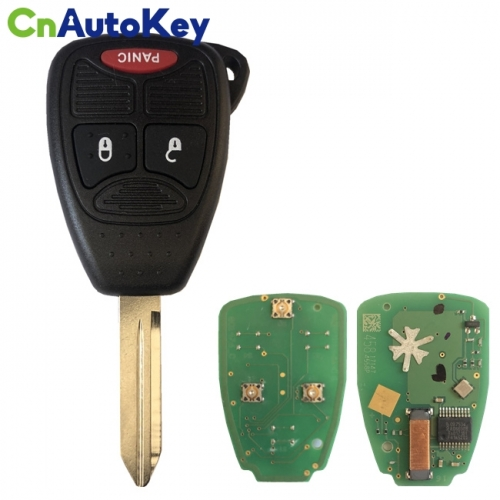 CN015058 2004 - 2016 Chrysler, Dodge, Jeep 3 Button Remote Head Key - OHT692427AA OHT692713AA