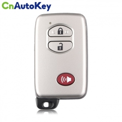 CN007176 For Toyota Land Cruiser 2007+ Smart Key, 3Buttons, B53EA P1 D4 4D-67 Chip, 433MHz Light Gray 89904-60220 Keyless Go A433
