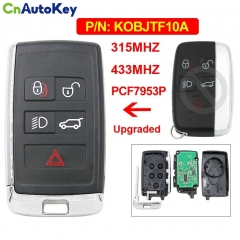 CN004034 5 Button Remote Car Key 315Mhz 433Mhz PCF7953P Chip KOBJTF10A for Land Rover LR2 LR4 Range Rover Evoque  Sport