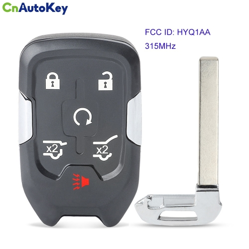 CN019016 for GMC Yukon XL Denali for Chevrolet Suburban Tahoe 2015-2019 Remote Key Fob FCC ID HYQ1AA 13508280 13580804 13508278