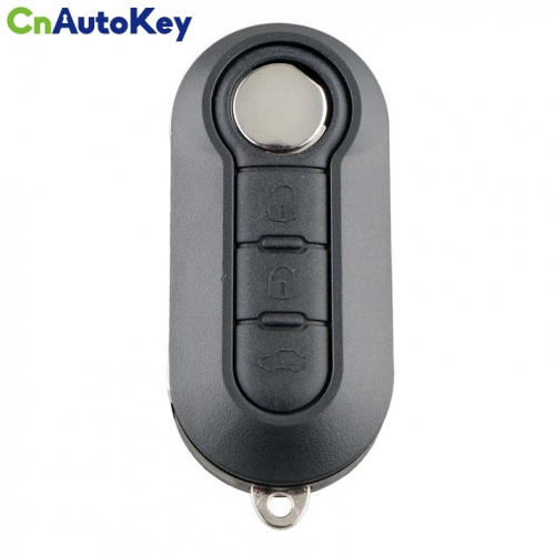 CN017014 3 Button Remote Flip Car Key 433Mhz  For Fiat 500 Grande Punto Doblo Qubo 2006 2007 2013 Delphi BSI with PCF7946