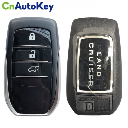 CN007154 For Toyota Land Cruiser 2016-2017 Genuine Smart Key 3 Buttons 433MHz P1 (A8) TMS37200 Transponder 89904-60K80 BJ2EW