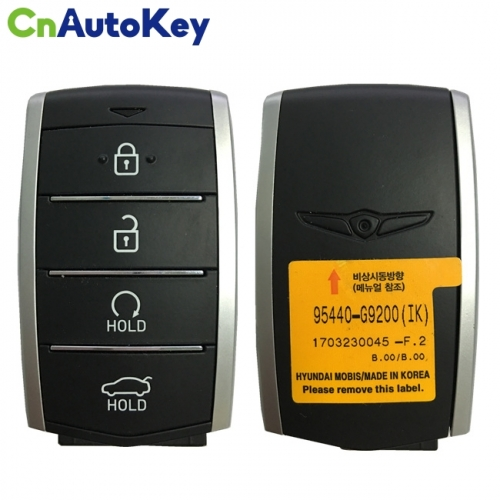 CN020139 For Hyundai Genesis 2019 Genuine Smart Remote Key 4 Buttons 433MHz 95440-G9200