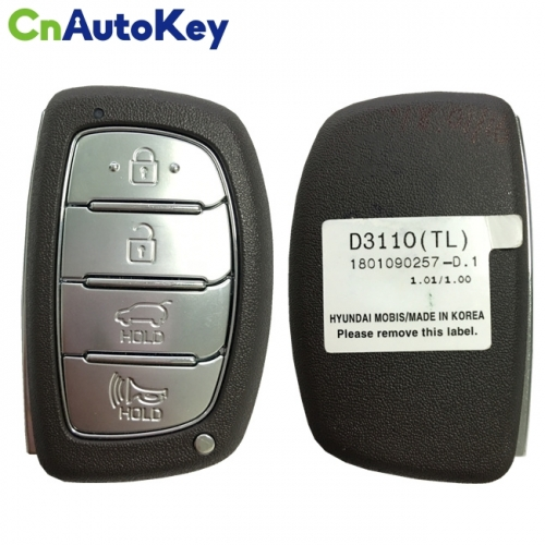 CN020135 For Hyundai Tucson 2018 Genuine Smart Remote Key 4 Buttons 433MHz HITAG 3 Transponder 95440-D3110
