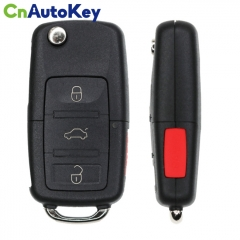 CN001100 For Volkswagen 4 Button Remote Flip Key Peps Fcc 5K0837202AK Chip 48 Can Pn NBG010206T