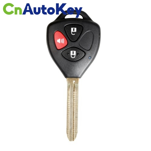 XKTO04EN Wire Remote Key Toyota Flat Right 3 Buttons Triangle English 10pcs/lot