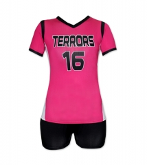 Women's Sublimation Custom Volleyball Uniform 2019 Style V1077