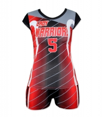 Women's Sublimation Custom Volleyball Uniform 2019 Style V1069