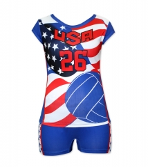 Women's Sublimation Custom Volleyball Uniform 2019 Style V1074