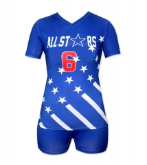 Women's Sublimation Custom Volleyball Uniform 2019 Style V1064