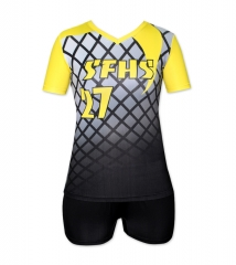 Women's Sublimation Custom Volleyball Uniform 2019 Style V1076