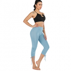 Women's Yoga Pants Fitness Lignt Blue Pants QK2324/3
