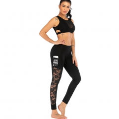 Women's Yoga Pants Fitness Pants Black CK2329