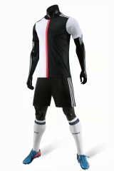 Men's Club Team 19/20 Away Customized Soccer Uniform - Black/White