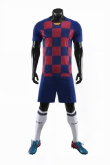 Men's Club Team 19/20 Home Customized Soccer Uniform - Blue/Red
