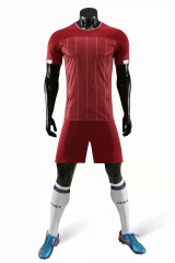 Men's Club Team 19/20 Home Customized Soccer Uniform - Red