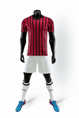 Men's Club Team 19/20 Home Customized Soccer Uniform - Red/Black