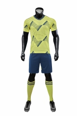 Men's  National Team 19/20 Home Customized Soccer Uniform - Yellow/Blue