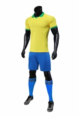Men's  National Team 19/20 Home Customized Soccer Uniform - Yellow