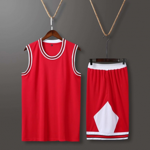 Men's Basketball Club Team Swingman Jersey - Red BA0010