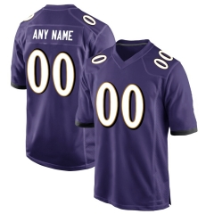 Men's Custom Football Jersey Embroidered Team Name & Number - Purple FTC008