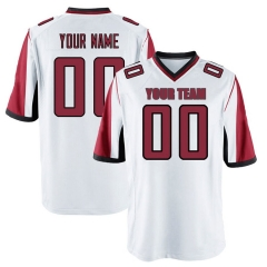 Men's Custom Football Jersey Embroidered Team Name & Number - White FTC006