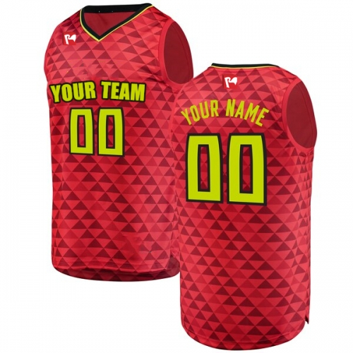 Men's Custom Basketball Jersey Embroidered Team Name & Number - Red BAC0003