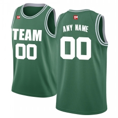 Men's Custom Football Jersey Embroidered Team Name & Number - Green BAC0005