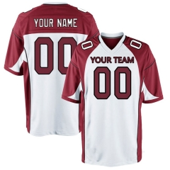 Men's Custom Football Jersey Embroidered Team Name & Number - White FTC002
