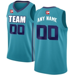 Men's Custom Football Jersey Embroidered Team Name & Number - Cyan BAC0014