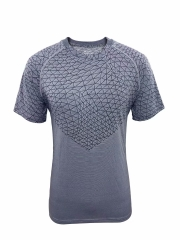 Men's Running Shirt Running Gear -Gray RNM007