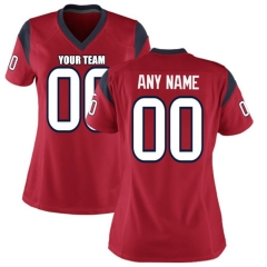 Women Custom Football Jersey Embroidered Team Name & Number -Red  FTW066