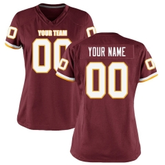 Women Custom Football Jersey Embroidered Team Name & Number -Red  FTW069