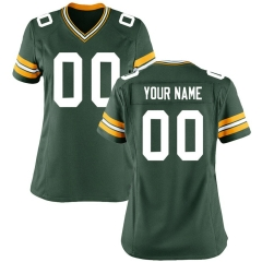 Women Custom Football Jersey Embroidered Team Name & Number - Green  FTW064