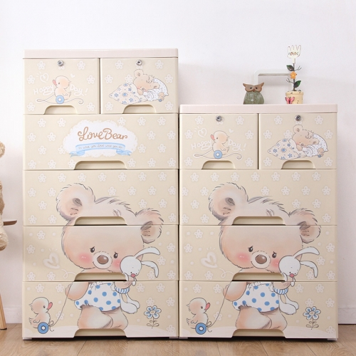 Zarkerboger 55CM Kids Storage Cabinet 5 Drawer Chest