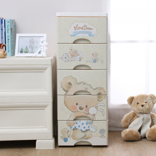 Zarkerboger 32CM Koala Cartoon Pattern Cabinet 5 Drawers