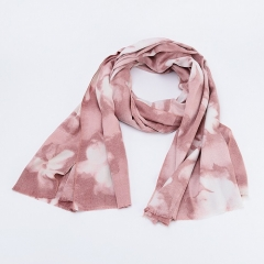 Similar Cotton Touching New Design Inexpensive Price Flower Printing Comforable Blend Fabric Scarf For Women