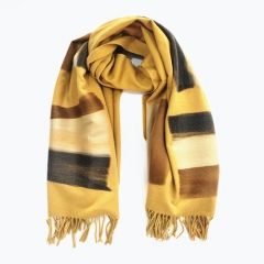 Top Quality Fashion Design Factory Colorful Print Direct Sale Blend Wool Scarf