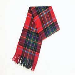 Scotland Style Wool Feel With Tassels Fringed Winter Autumn Spring Scarf