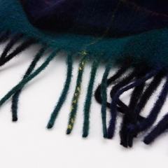 High-quality Lattice Cheap Soft Fashion Baseball Caps And Scotland Style Wool Feel With Tassels Fringed Scarf
