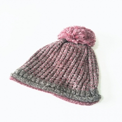 Women Winter Knitted Cap With Pom Fisherman's knitted hat