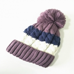 Striped Pattern Lady & Male'sWinter Outdoor Warm Knitted Hat