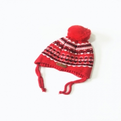 Baby Winter Warm Knit Hat Infant Toddler Cap With Two Stripe