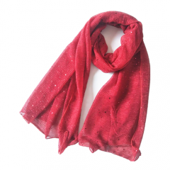 Fashion Design Graceful Simple Economical High Quality Winter Scarf With Sequins